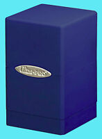 Ultra Pro Satin Tower Blue Deck Box Gaming Card Dice Storage Compartment Mtg
