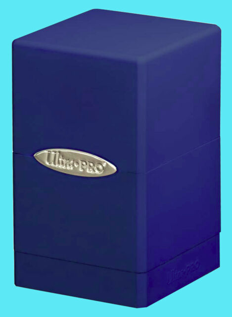 ULTRA PRO SATIN TOWER BLUE DECK BOX New Gaming Card Dice Storage Compartment MTG