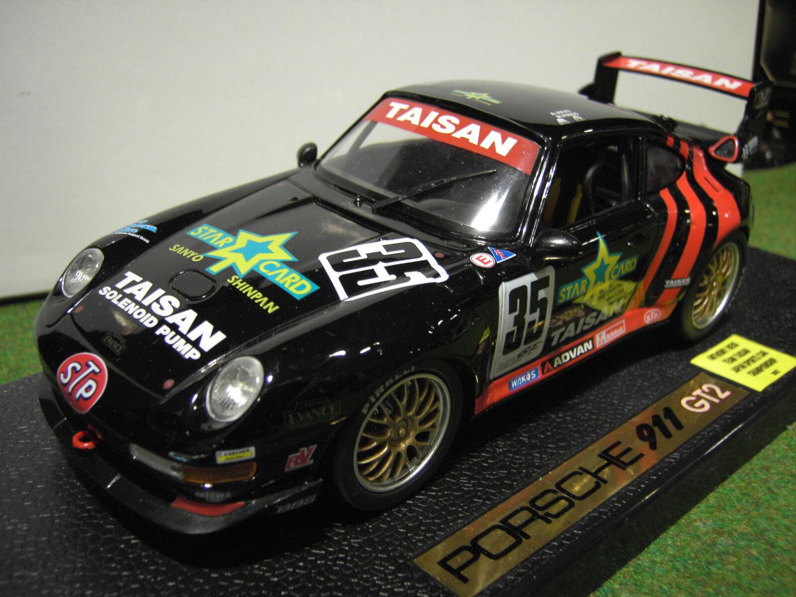 PORSCHE 911 GT2 RACING ANTHONY REID  JAPAN voiture 1 18 ANSON 30327 voiture miniature  jusqu'à 60% de réduction