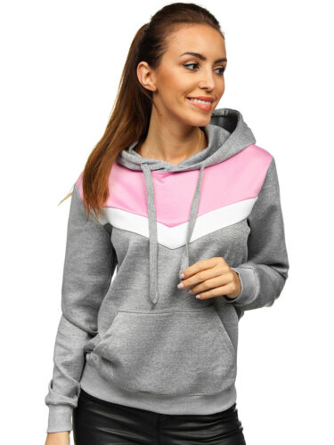 Kapuzenpullover Sweatshirt Hoodie Sweatjacke Pullover Sport Damen BOLF Motiv