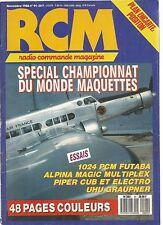 RCM N°91 PLAN : POSITION / 1024 PCM FUTABA / ALPINA MAGIC MULTIPLEX / UHU GRAUPN