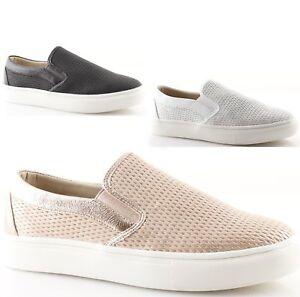 scarpe Slip on donna sneakers nere bianche rosa senza lacci estive ... c96f83cad3a