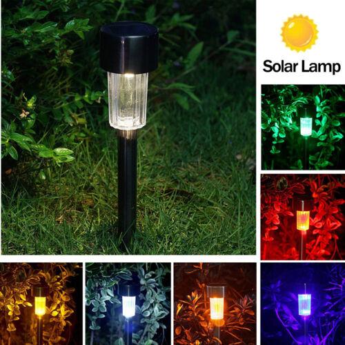 Waterproof RGB Solar Power Light Sensor Garden Light Outdoor Path Yard Lawn Lamp