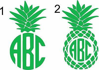 Custom Pineapple Monogram Initials personalized Vinly ...