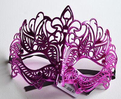 NUOVO Rosa Glitter Filigrana Masquerade Maschera Occhio Gotica Halloween Festa