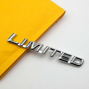 Chrome Metal Limited Trunk Rear Emblem Badge Sticker For Toyota
