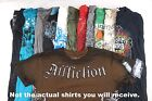 Lot of 10 Random Men's Graphic Tees w Affliction BEST DEAL COOLEST Shirts!
