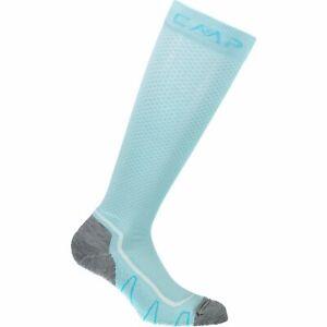 Cmp Chaussettes De Sport Trekking Sock Poly High Bleu Clair Respirant Unicolore-afficher Le Titre D'origine
