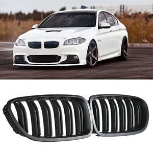 Per-BMW-F10-F11-520i-550i-Nero-opaco-M5-anteriore-Griglia-10-15-doppia-lamella