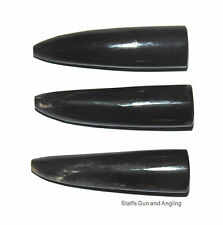 Genuine 60mm Polished Buffalo Horn Tips X3 - Polished 60mm Premium Grade