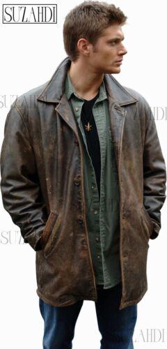 Marrone Pelle Dean Con Giacca Supernatural Winchester Accurato Trattamento In EqtYYpn5