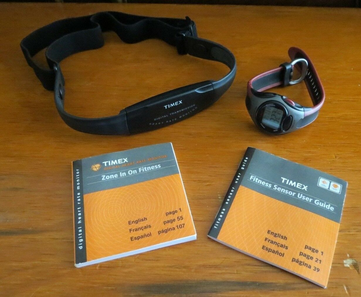 Timex Digital Sports Watch with Heart Rate Monitor Exercise Strap  Model RSS 210