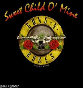 GUNS N' ROSES cd cvr SWEET CHILD O MINE Official Baby ONE PIECE Shirt 12 Months