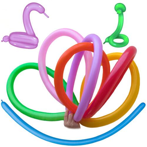 Modellierballons Stückzahl 100 oder 5 wählbar Ballons Luftballons bunt sortiert