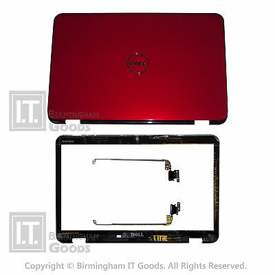 Brand New Dell INSPIRON 15R N5010 M5010 COVER LID RED DHTXG HINGES and BEZEL
