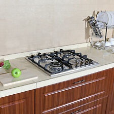 """Brand 23 """"Stainless Steel 3300W Built-in Kitchen 4Burner Stove Gas Hob Cooktop"""