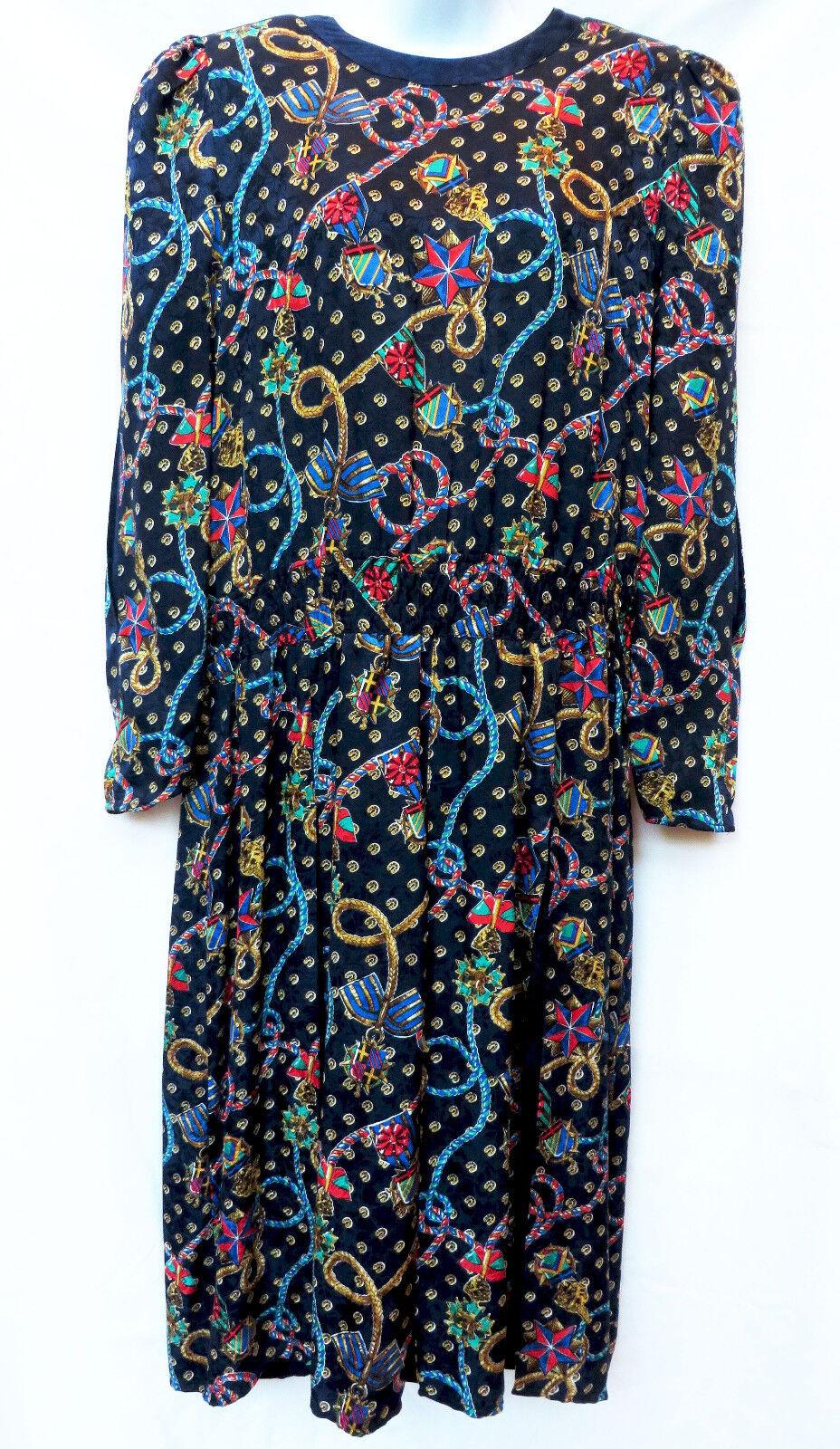 De  Colección Diane Freis Originals Mujeres Floral Vestido Plisado Retro Mod L XL  barato en alta calidad