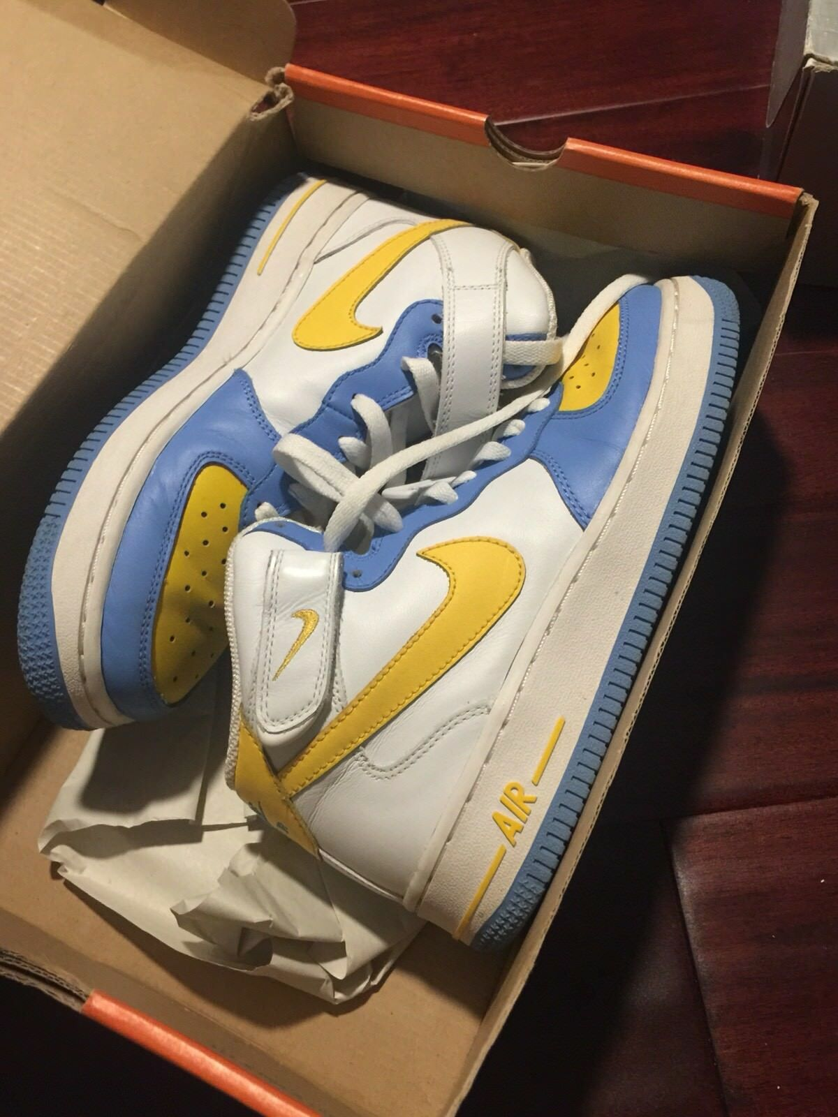 nike air force one mid (gs) 5.5