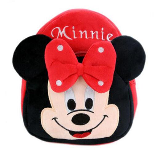 Boys Girls Kids Nursery Toddler Cartoon Minnie Mouse Backpack Schoolbag Mini Bag