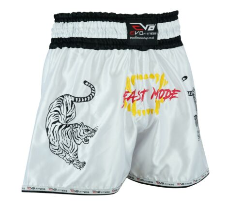 EVO Muay Thai Kick Boxing Cage Fight Shorts MMA Grappling Martial Arts Gear UFC
