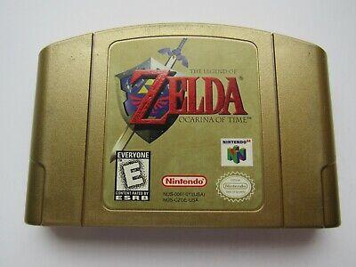 Legend of Zelda Ocarina of Time Gold Video Game RPG OEM Nintendo 64 N64  GOOD! 45496870386   eBay