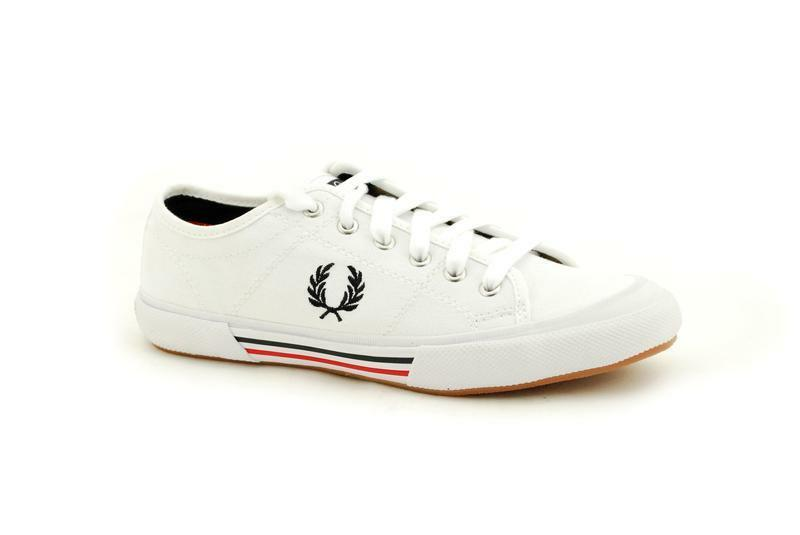Fred Perry White Vintage Tennis Canvas B4249 183