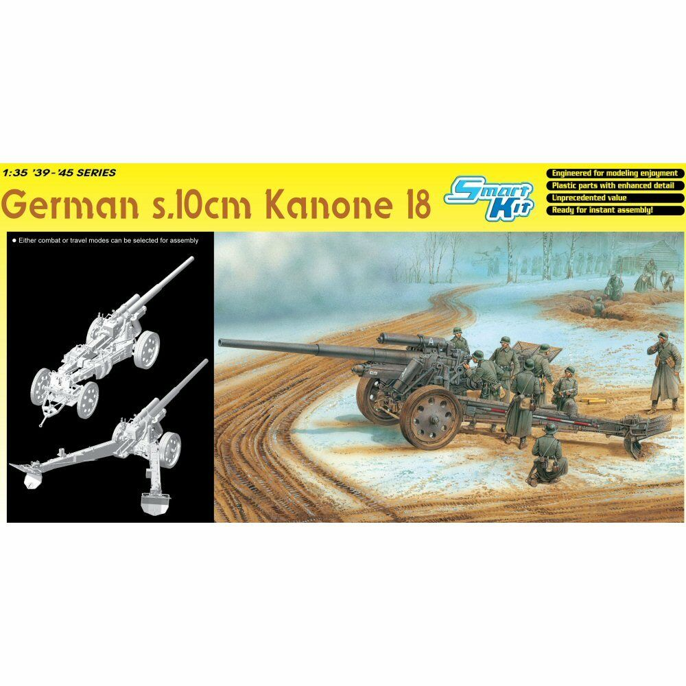 Dragon 6411 German s10 cm Kanone 18 1 35 scale plastic model kit