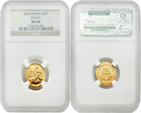 China 2004 Panda 50 Yuan 1/10 oz Gold NGC MS68