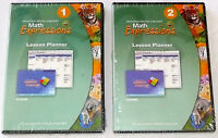 Set Of 2 Math Expressions Lesson Planner Cd-roms Levels 1 & 2 Houghton >new