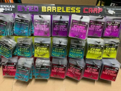 DRENNAN  eyed barbless carp method feeder pellet waggler hooks