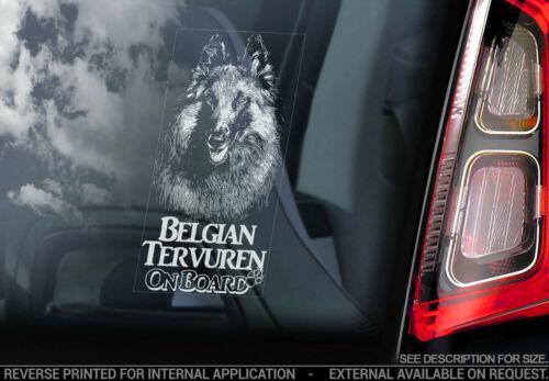 Belgische Tervueren an Bord V02 Hund Schild Autofenster Aufkleber