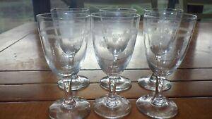 Cordial glasses Fleur de lis design 6 2oz footed liqueur glasses cordial glasses