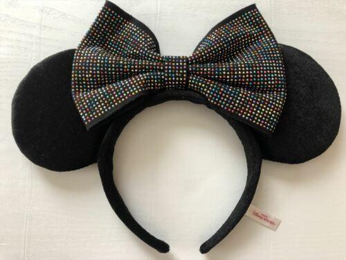 Tokyo Disney headband Minnie Ears Studs Colorful Black sequin TDL