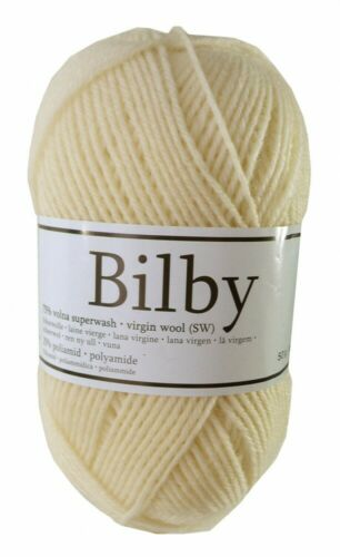 5,58€//100g Sockenwolle BILBY Countrystyle 50 g #11 cremeweiß