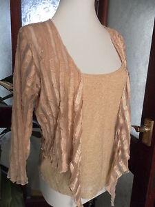 Per-Una-Two-Piece-gold-mesh-Bolero-Top-and-Camisole-Vest-Set-14-BNWT-35
