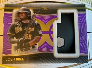 2021 Topps Definitive Baseball JOSH BELL Game-Used Helmet Relic Card 3/5 Pirates