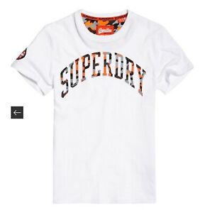 Superdry Mens Camouflage Embossed Logo T-Shirt Sz L NWT
