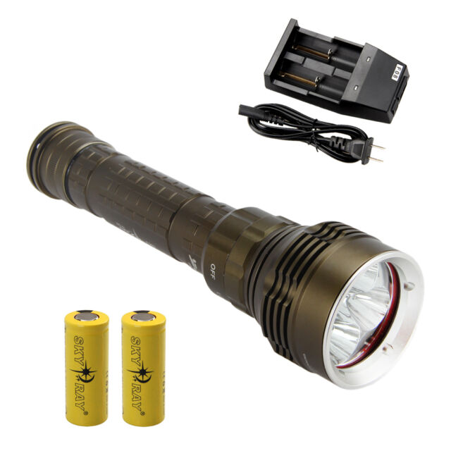 Underwater 8000Lm Diving 5x CREE XM-L2 LED Flashlight Torch Light 26650 Battery