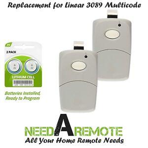 2-Car-Visor-Garage-Door-Remote-Opener-Control-Clicker-for-Linear-3089-Multi-Code