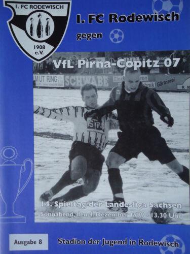 FC Rodewisch Programm 1999//00 1 Pirna Copitz
