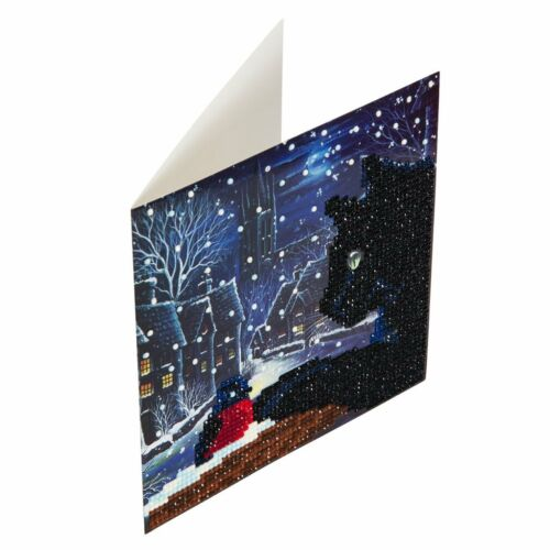 Greeting Cards CraftBuddyUS Christmas Theme Crystal Card Kits