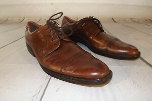 Ecco-Mens-Leather-Brown-Shoes-Tie-Dress-Size-46-Euro-Oxford-US-Size-12-12-5