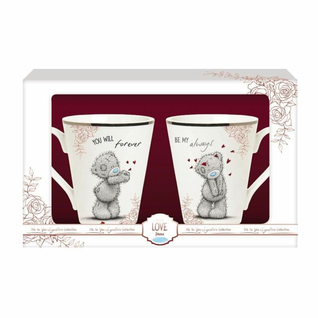 dc79b178ed2 Me to You Tatty Teddy Forever and Always Double Mug Set Valentines Gift  G01m0633