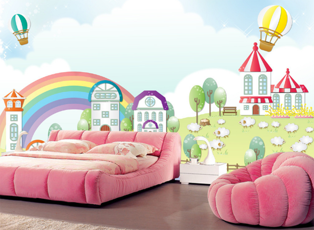 3D Märchen Gras Haus 799 Tapete Wandgemälde Tapeten Bild Familie DE Summer