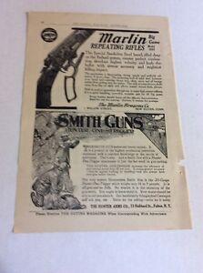 1911 MAGAZINE AD #A3-140 - Marlin Repeating Rifles- Smith Guns