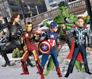 Enfant-Marvel-Movie-Avengers-Iron-Man-Thor-Hulk-Captain-America-BLK-Widow-Costume