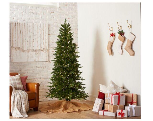 finest selection b51f3 3100e Santa's Best 6.5' WRGB Alberta Spruce Starry Light Christmas Tree