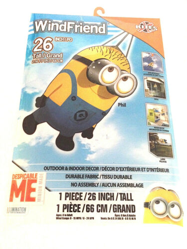 Free Metal Swivel Hook Windsock Kite Tail Despicable Me Minion Phil