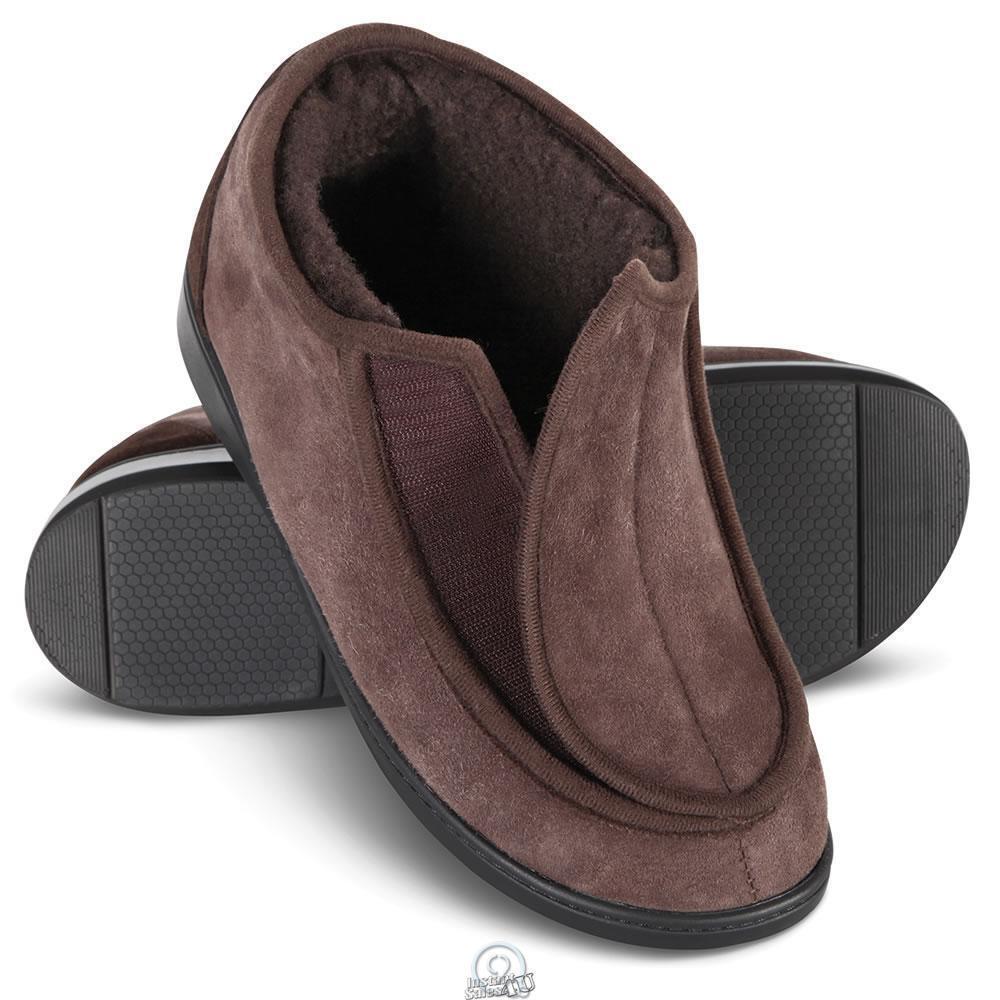 Hammacher Adjustable Shearling Slipper shoes Brown Womens 6 Euro 36 Lightweight