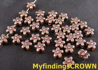 150 Pcs Antiqued copper swirl flower spacer beads FC43C